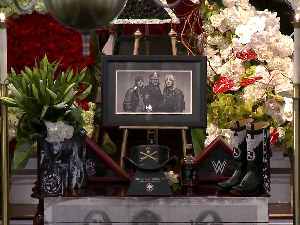 Friends, Family Gather for Motorhead Singer 'Lemmy' Kilmister's Memorial Service