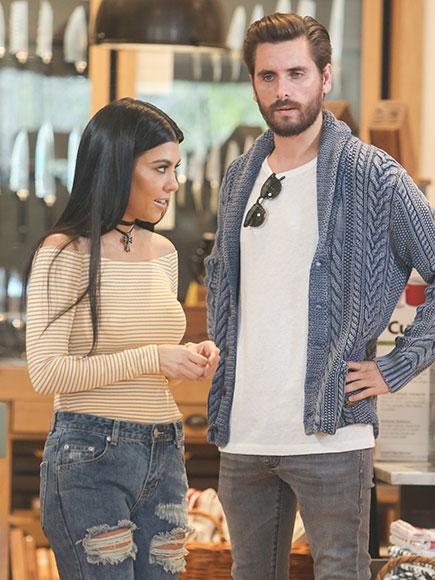Kourtney Kardashian and Scott Disick Go Shopping for His New House