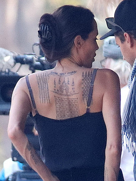 Angelina Jolie New Tattoos 2016