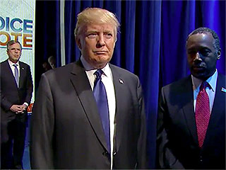 VIDEO: Ben Carson and Donald Trump's Intros During the GOP Debate Were Incredibly Awkward to Watch