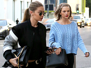 Girls' Day Out! Taylor Swift and Gigi Hadid Step Out for Manicures in Beverly Hills