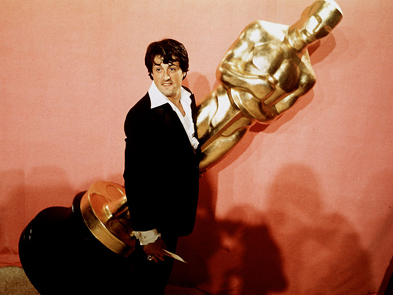 Oscar Flashback: Sylvester Stallone and Rocky at the 49th Academy Awards in 1977