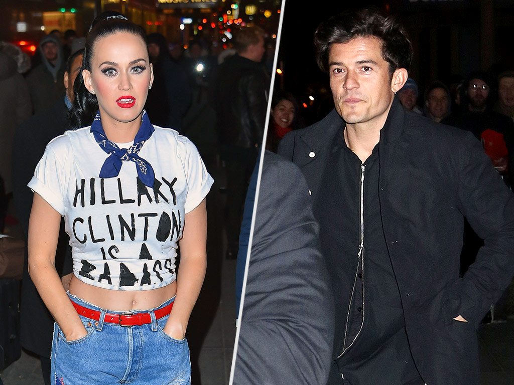 Orlando Bloom in N.Y.C. as Katy Perry Campaigns For Hillary Clinton
