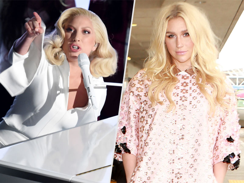 Oscars 2016: Kesha Thanks Lady Gaga 'for Bringing Attention' to Rape