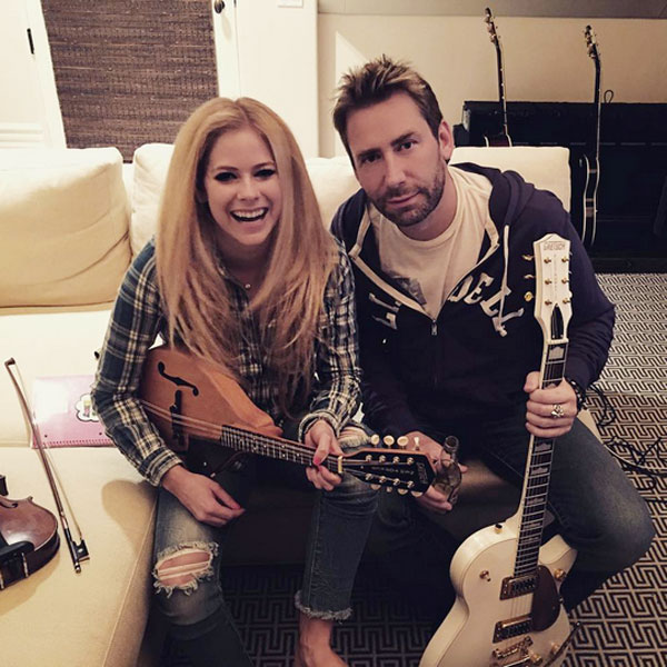 Avril Lavigne and Chad Kroeger Reunite in the Recording Studio