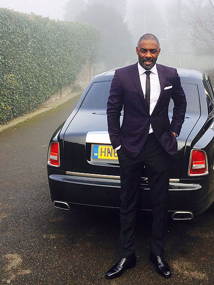 Idris Elba Suits up to Receive Special Honor at Buckingham Palace