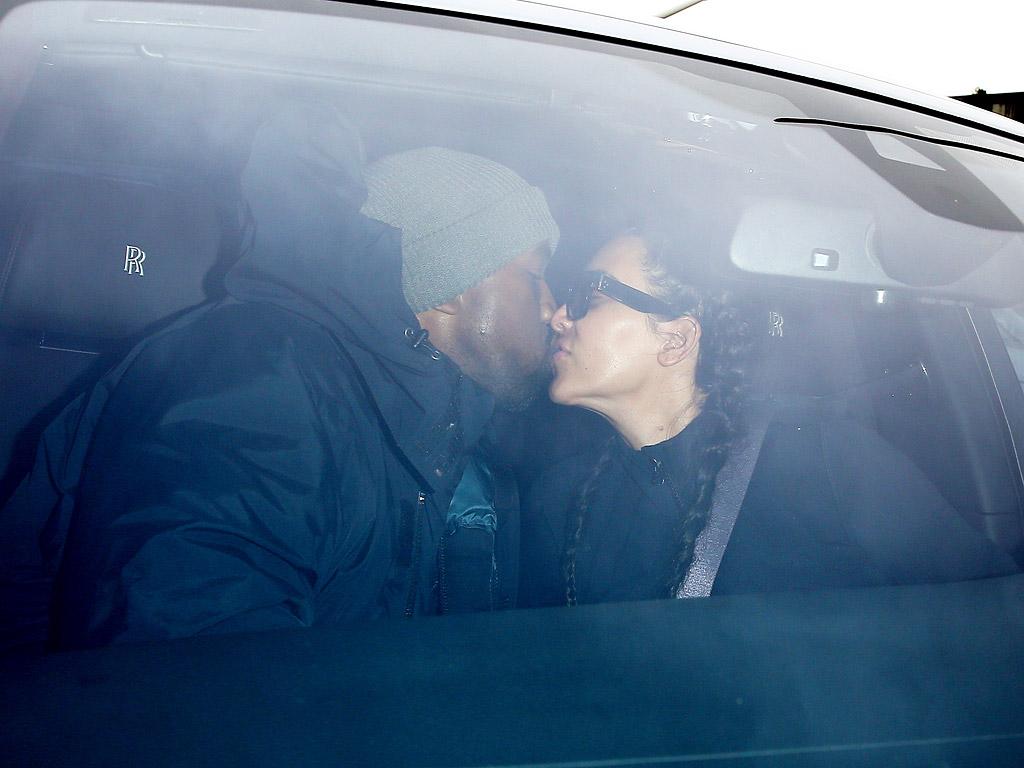 Kim Kardashian West Kisses Kanye West Goodbye at LAX