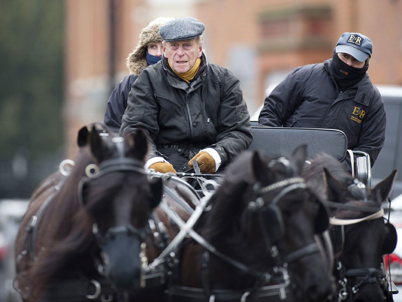 See Prince Philip, 94, in the Driver's Seat of His Horse-Drawn Carriage