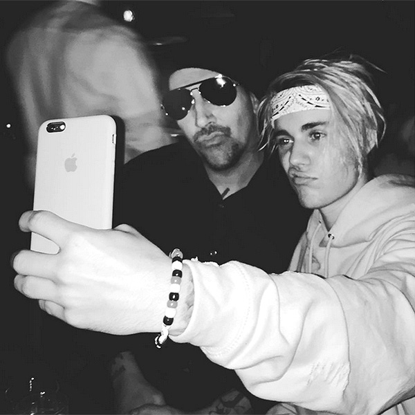 Justin Bieber with Marilyn Manson in Los Angeles