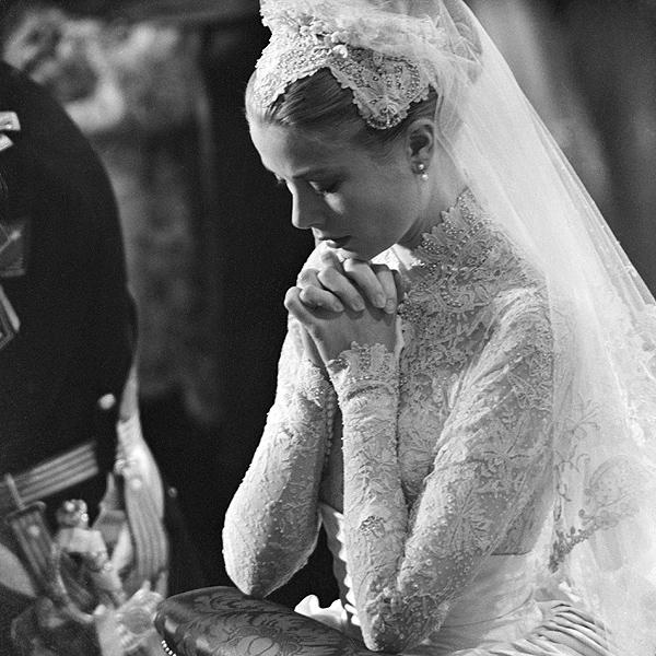 Princess Grace Wedding Outfit, No Tiara