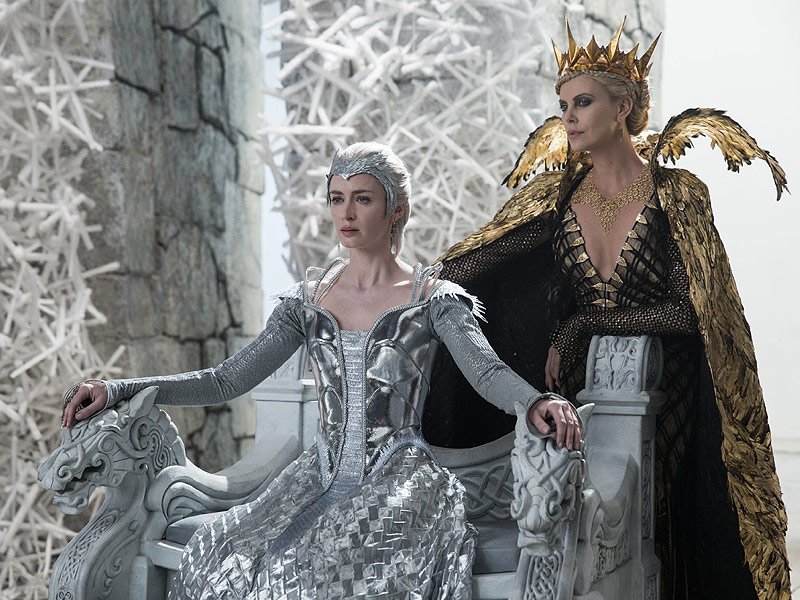 Charlize Theron and Emily Blunt's Huntsman Gowns Left Them No Room to Fight