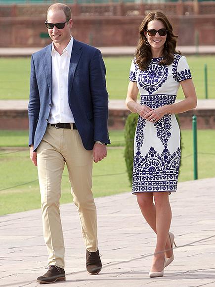 Kate Middleton Style: $7 Blue Earrings at Taj Mahal