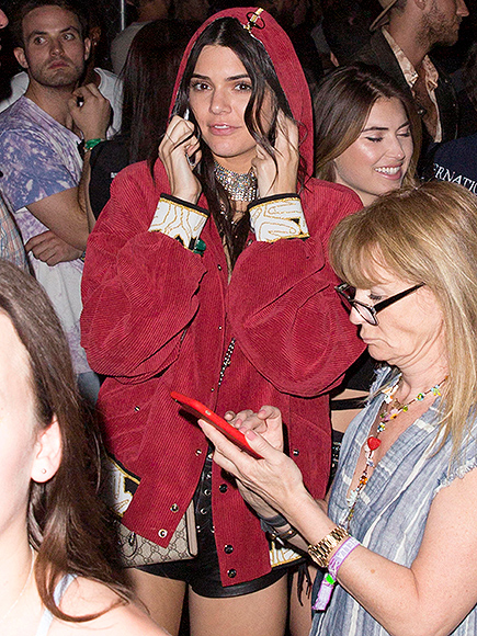 Kendall Jenner and Jordan Clarkson at Coachella 2016