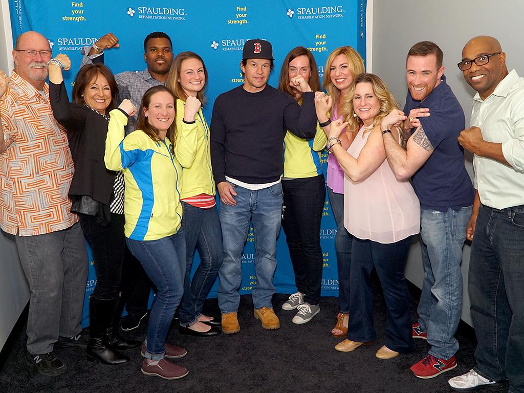 Mark Wahlberg Surprises Boston Marathon Charity Running Team Before Race