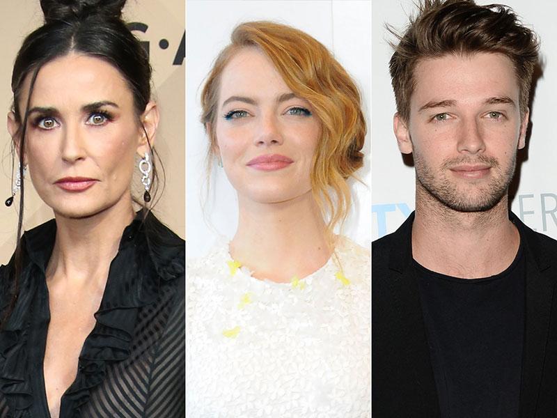 Demi Moore, Emma Stone, Patrick Schwarzenegger Register Wrong Party
