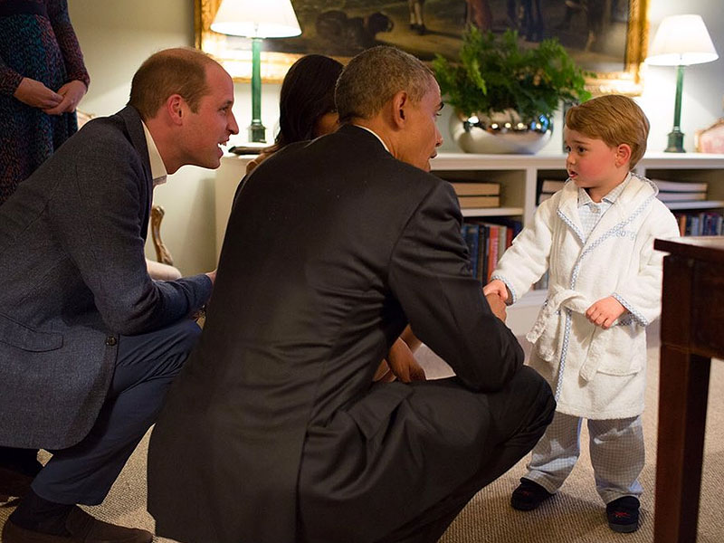 Prince George's Bathrobe and Slippers: Photos