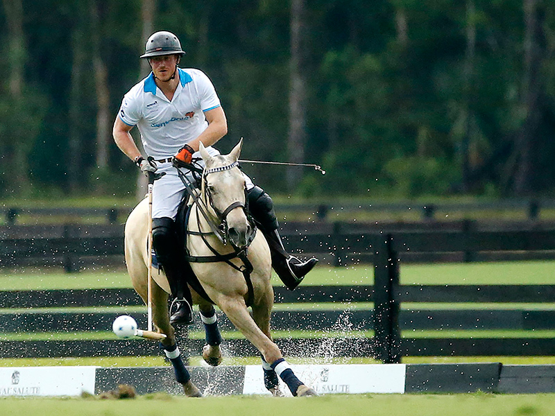Polo Star Nacho Figueras Joins Prince Harry on the Royal's First Day in Florida