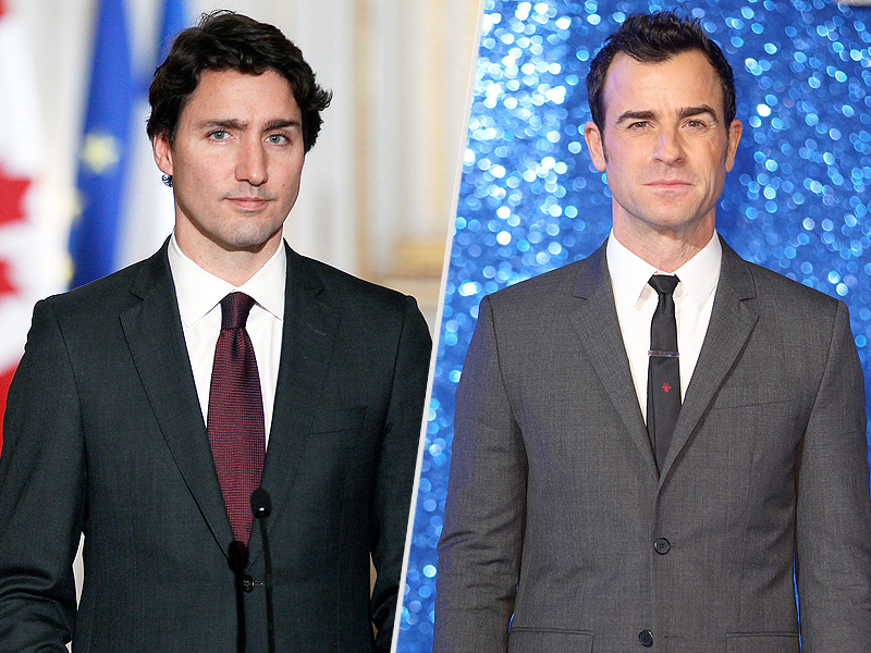 Justin Trudeau and Justin Theroux Similarities