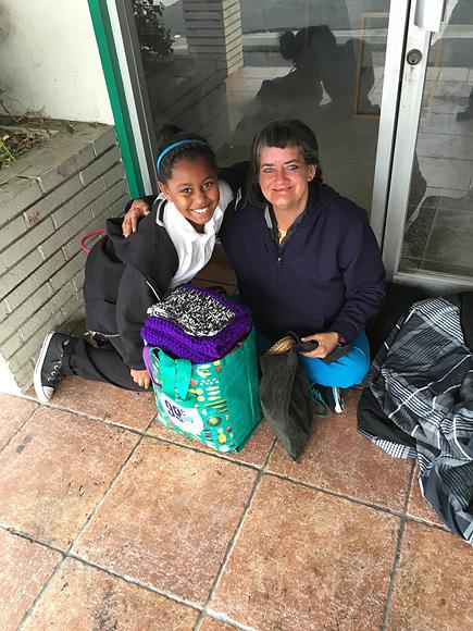 Khloe Thompson Makes Bags for the Homeless Through Khloe Kares Charity