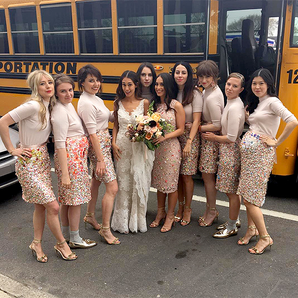 Lena Dunham Serves As Bridesmaid For Audrey Gelman's Wedding