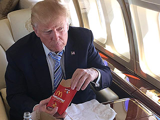 Trump Celebrated Clinching the GOP Nomination with McDonald's on His Private Jet