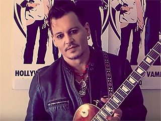 Johnny Depp Promotes the Hollywood Vampire's Upcoming Romania Show in New Video