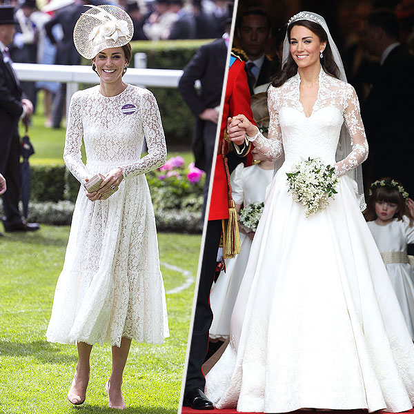 Was princess kate 39 s ascot outfit choice inspired by her for Wedding dress princess kate
