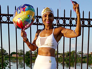 Oldest Female Bodybuilder Celebrates Her 80th Birthday and Still Wakes Up at 2:30 a.m. to Train: 'It's My Joy'