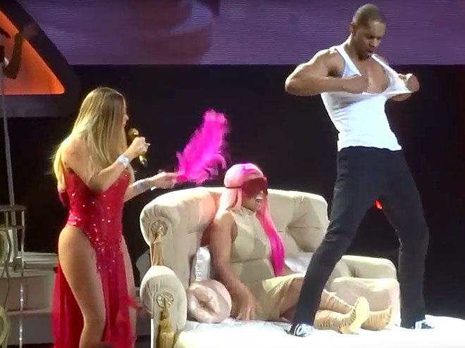 Mariah carey strip tease