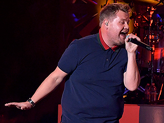 Concert Karaoke! James Corden Joins Meghan Trainor Onstage at LA Performance