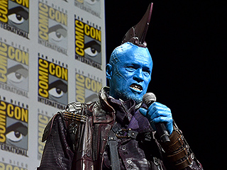 It Only Took a Little Convincing to Get Guardians' Michael Rooker Blue in the Face for Comic-Con