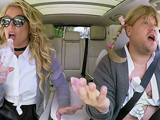 Britney Spears Says Carpool Karaoke was 'a Little Awkward' as She Calls James Corden a 'Teddy Bear'