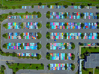 Senior Pranks Are So Old School – Florida Students Create Works of Art with Painted Parking Lot Spaces Instead!