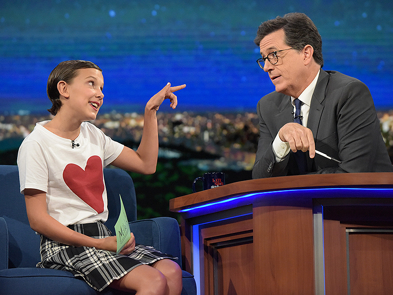 Stranger things millie bobby brown quizzes stephen colbert people