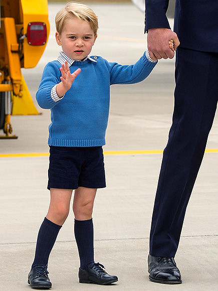 Prince George Style In Canada Arrival Outfit Details
