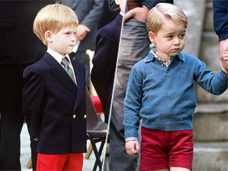Prince George Wears a 'Harry' Sweater – and Twins with His Uncle in Red Shorts!