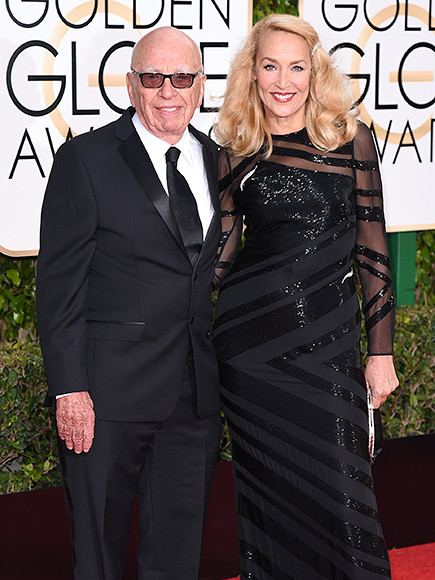 Golden Globes 2016: Rupert Murdoch and Jerry Hall Hit Award Show Together
