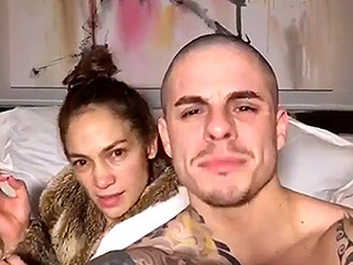 Jennifer Lopez Goes Completely Makeup Free in Hilarious Dubsmash Video with Casper Smart