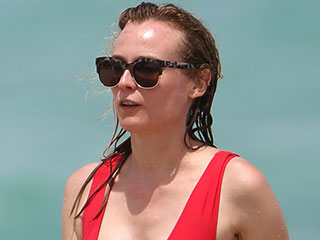 Diane Kruger Gives C.J. Parker a Run for Her Money in Red One-Piece Swimsuit