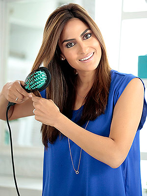 WATCH AND SHOP: Forget Your Flat Iron! This Brush Delivers Sleek Strands Instantly