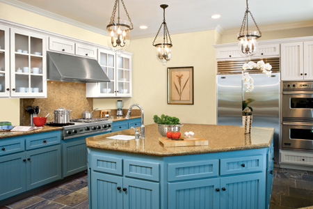 kitchen with stone countertop displayed