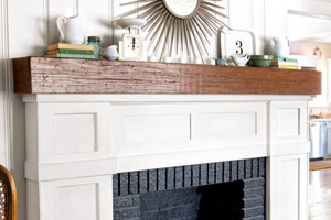 budget fireplace redo after