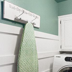 details of budget laundry redo after remodel