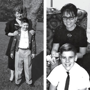 reader Dennis Prisant and his handy mom, Bernice, in 1958 and reader Michael Ritenour and his mother, Yvonne, aback in 1967.
