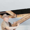 Removing joists and other obstructions from the attic opening