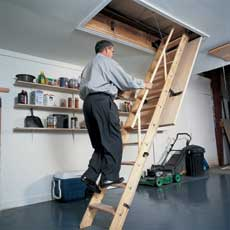 Install pulley system how to install pull down attic for Pull down attic stairs installation