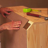 Covering gap in back of chest with plywood