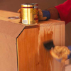 Curing unfinished wood with polyshine