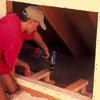 add support braces to give the in-wall dresser a sturdy home
