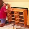 put the dresser into the wall-opening